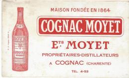 Buvard /Spiritueux/Cognac MOYET/Cognac / Charente/Vers 1950    BUV195 - Liquor & Beer
