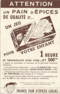 Buvard /Pain D'épice/Reine D'Or/France Pain D'Epices / LILLE/Nord/Vers 1950    BUV196 - Pain D'épices