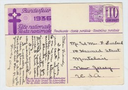 Switzerland CHILDREN BUNDESFEIER POSTCARD SCARCE OVERSEA USE TO USA 1963 - Childhood & Youth