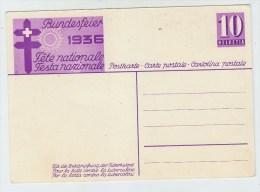 Switzerland CHILDREN BUNDESFEIER MINT POSTCARD 1936 - Childhood & Youth