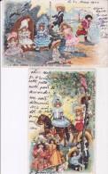 2 CARTES POUPEES BEBES JUMEAU EXPOSITION DE 1900 - Games & Toys
