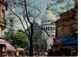 Paris : La Basilique Du Sacré Coeur Et La Place Du Tertre (n°312 Yvon) - Places, Squares