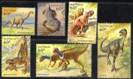 AUSTRALIA DINOSAURS SET OF 6 LOOSE & M/S STAMPS FOLDER WITH SOUND ISSUED 2013 MINT  SG? READ DESCRIPTION !! - Nuovi