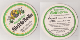 Hirsch Bräu Waldkircher Gebr. Klausmann , DLG 1989 / 90 - Export / Pils - Sous-bocks