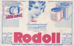 Buvard /Savon/RODOLL/Savon Et Créme Neige/Giraud Et Cie/Pharmaciens/LYON-OULLINS/Vers 1950    BUV197 - Parfums & Beauté