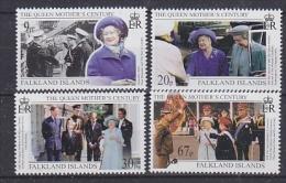 Falkland Islands 1999 Queen Mother's Century 4v ** Mnh (20655A) - Falklandeilanden