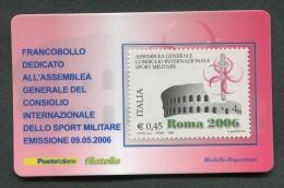 ITALIA TESSERA FILATELICA 2006 - ASSEMBLEA GENERALE CISM - 132 - 6. 1946-.. Republik