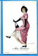 FR404, Femme , Miss Behaving, Illustrateur, Fantaisie,Mode, Non Circulée - Illustrators & Photographers