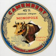 Etiquettes De Fromage. Camembert  Monopole..  Neuve - Fromage