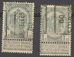 België/Belgique  Preo  N°280A+B Bruxelles 1900. - Préoblitérés