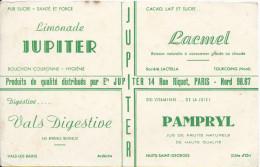 Buvard/ Boissons / Jupiter/Lacmel TOURCOING/Pampryl Nuits st Georges/Vals  VALS-Les-Bains/ /Vers 1950        BUV205
