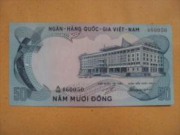 South Vietnam Viet Nam AU 50 Dong Horse Banknote 1972 - P#30  / 02 Images - Vietnam