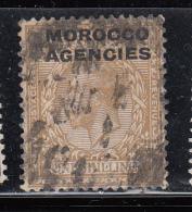 Morocco Agencies 1925 KGV British Currency Mon Brit SG Block Cypher SG61 USED - Gran Bretagna (vecchie Colonie E Protettorati)