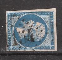 Empire N° 14 B Obl GC 1154 De COUCHES LES MINES, Saone Et Loire, Ind 4, TB - 1853-1860 Napoléon III
