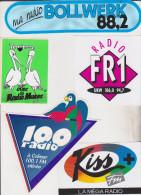 Autocollants Radio 100 Colmar Kiss FM FR1 Radio Muses Bollwerk - Autocollants