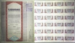 LIQUIGAS - SOCIETA´ PER AZIONI  /   TITOLO  AZIONARIO DA 1  AZIONE  _  1971 - Electricité & Gaz