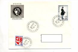 Lettre Cachet Strasbourg Philatelie Sur Facteur - Postmark Collection (Covers)