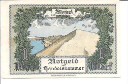 MEMEL ( KLAIPEDA ) 1 MARK 1922  XF RARE - Billets