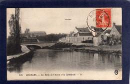 18 BOURGES    LES BORDS DE L'AURON  ET LA CATHEDRALE    CPA Année 1916   EDIT  L L   LEVY - Bourges