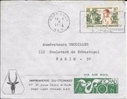 LC8-Lettre Du Tchad , Timbre D'AEF N°230 - Lettres & Documents