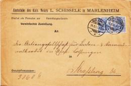 Env Vereinfachte Zustellung Affr Y&T  70 X 2 Obl MARLENHEIM Du 28.4.04 - Marcophilie (Lettres)