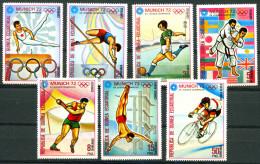 TH Guinea Equatorial 1972 Olympic Games Munich 7v MNH - Summer 1972: Munich