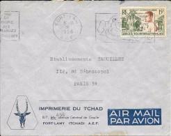 LC11-Lettre Du Tchad , Timbres D'AEF N°230 - A.E.F. (1936-1958)