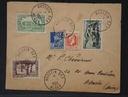 FRANCE- ALGERIE LETTRE DE HUSSEIN-DEY POUR ASNIERE EN 1955 AFF PLAISANT    LOT P3001 - Algeria (1924-1962)