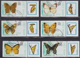 1254. Vietnam, 1989, Butterflies, Used (o) (set Is Not Complete) - Viêt-Nam
