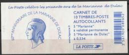 Carnet Marianne De Dulac  - YT 1513 Neuf ** Non Plié Et Daté 14-10-05 - Usage Courant