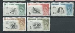Falklandinseln 1960 Vögel  Mi.-Nr. 123 - 127 * - Islas Malvinas