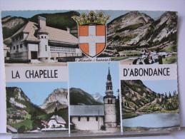 74 - LA CHAPELLE D'ABONDANCE - MULTIVUES + BLASON - La Chapelle-d'Abondance