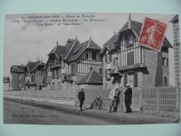 """CPA 14 Villers-sur-Mer - Route De Trouville - Villa """"Saint-Denis"""" Et Chalets Normands -    A Voir ! - Villers Sur Mer"""