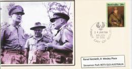 Général Mac Arthur & Marechal Thomas Blamey, Commandant En Chef Des Forces Australiennes En 1944. Entier Postal - WW2