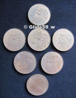 Lot De 7 Pièces De 10 Francs - France - 6 Gambetta 1982 + 1 Stendhal 1983 - K. 10 Francs
