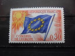 France Service N°30 DRAPEAU Conseil De L'europe Neuf ** - Stamps