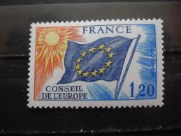France Service N°48 DRAPEAU Conseil De L'europe Neuf ** - Stamps