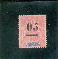 1902 MADAGASCAR Y & T N° 48 ( O ) 05 Sur 50c Rose - Oblitérés