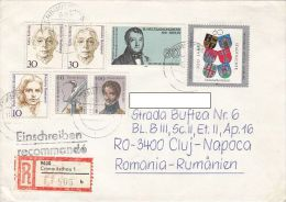 16164- COAT OF ARMS, ENERGY CONGRESS, K. KOLLWITZ, P. MODERSOHN BECKER, T. KORNER, STAMPS ON REG. COVER, 1991, GERMANY - Storia Postale