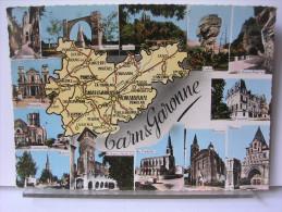 82 - TARN ET GARONNE - CARTE GEOGRAPHIQUE - Cartes Géographiques