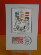 FDC Carte Maxi - 1917/1987, Entrés En Guerre Des États Unis D'Amérique - Paris - 13.6.1987 - 1er Jour, Coté 2,30 € - 1980-89