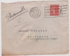 Enveloppe   Adréssé  à  Beauchene  , Départ  Paris   -  Orne - France