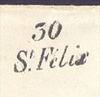 HAUTE GARONNE  31 ST FELIX Env Sans Cor Cursive 30/St  Felix Tad Type 14 Revel Du 13/11/1850, B  En Rouge, TTB  Ind18 - Marcofilia (sobres)