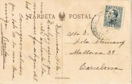 12287. Postal SANT HILARIO SACALM (Gerona) 1930. Vista Hotel Martin - 1889-1931 Reino: Alfonso XIII