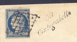HAUTE GARONNE 31 CINTEGABELLE LSC Cursive 30/Cintegabelle Grille N°4 (au Filet) Tad 14 AUTERIVE Du 13/12/1850 TTB Ind 21 - Marcofilia (sobres)