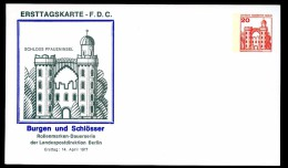 BERLIN PP76 D2/001a Privat-Postkarte SCHLOSS PFAUENINSEL ** 1977 - Private Postcards - Mint
