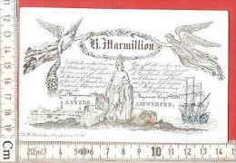 1 RARE PRINT ANVERS Maritime Angle Angel Engel Ship - Antwerpen Carte Litho Porcelaine- Printer Ratinckx - België