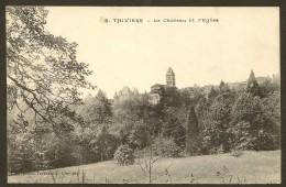 THIVIERS Rare Le Château Et L'Eglise (Champeaud) Dordogne (24) - Thiviers