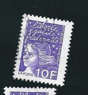 N° 3099 Type Marianne De Luquet  10 Frs  Oblitéré France 1997 - France