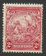 Barbados, 2 P. 1943, Sc # 195B, Used - Barbados (...-1966)